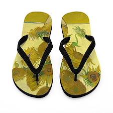 Vincent Van Gogh Sunflowers Flip Flops
