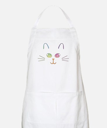 Rainbow Kitty BBQ Apron
