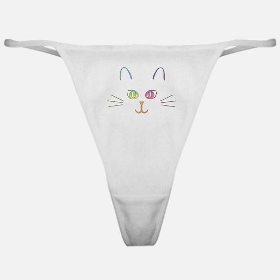Rainbow Kitty Classic Thong
