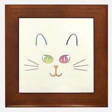Rainbow Kitty Framed Tile