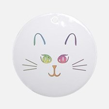 Rainbow Kitty Ornament (Round)