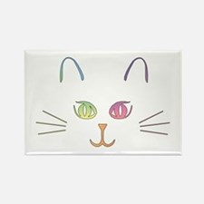 Rainbow Kitty Rectangle Magnet