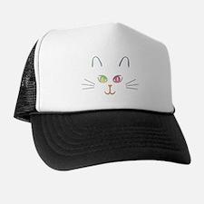 Rainbow Kitty Trucker Hat