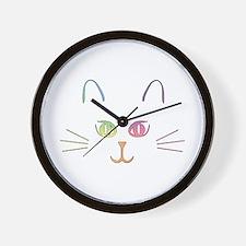 Rainbow Kitty Wall Clock