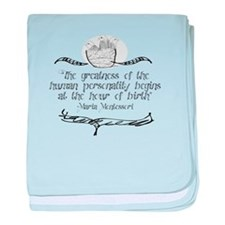 Greatness of Personality baby blanket