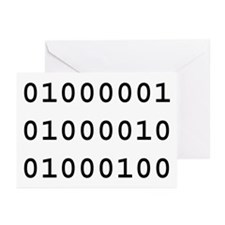 Binary ABD Greeting Cards (Pk of 10)