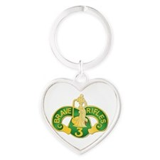 SSI - 3rd Armored Cavalry Rgt Heart Keychain