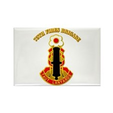 DUI - 75th Fires Brigade with Text Rectangle Magne