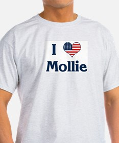 I Love Mollie Ash Grey T-Shirt