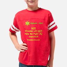 VitaminsAdultBlack Youth Football Shirt