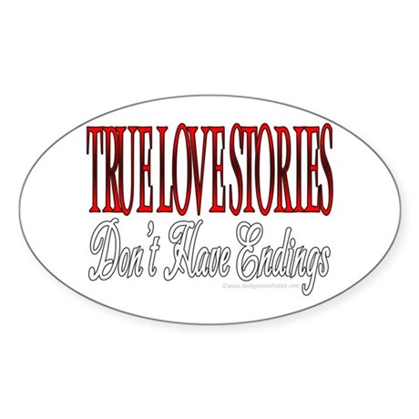 True Love Oval Sticker