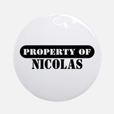 Property of Nicolas Ornament (Round)