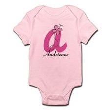 Personalized Monogram Letter A Butterfly Body Suit