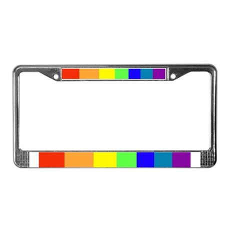 A Rain Side Affect Rainbow License Plate Frame