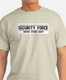 Navy Security Force Ash Grey T-Shirt