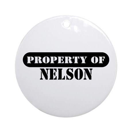 Property of Nelson Ornament (Round)