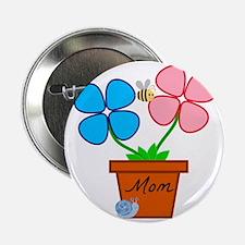 """Mom Flower pot 2.25"""" Button"""