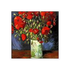 Red Poppy by Vincent van Gogh. Famous vintage flor