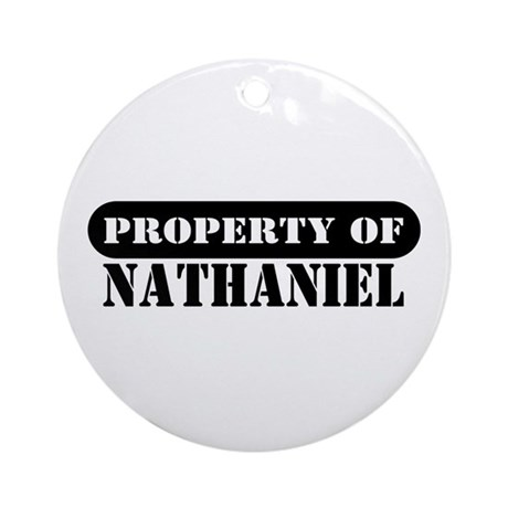 Property of Nathaniel Ornament (Round)