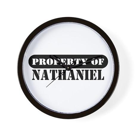 Property of Nathaniel Wall Clock