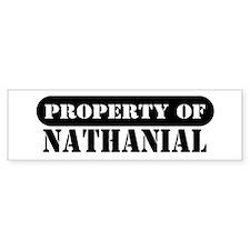 Property of Nathanial Bumper Bumper Sticker
