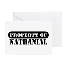 Property of Nathanial Greeting Cards (Pk of 10