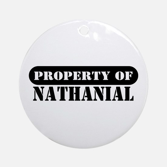 Property of Nathanial Ornament (Round)