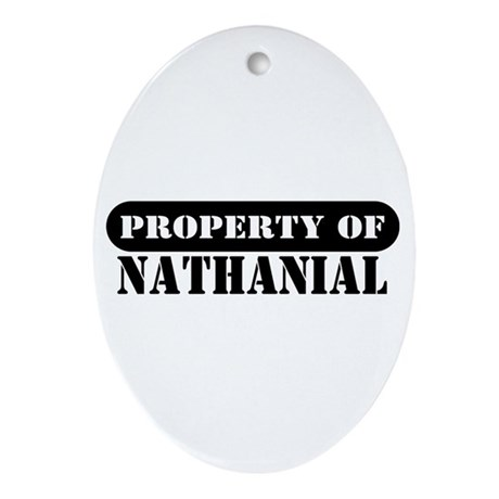 Property of Nathanial Oval Ornament