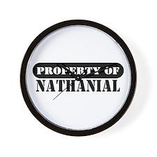 Property of Nathanial Wall Clock
