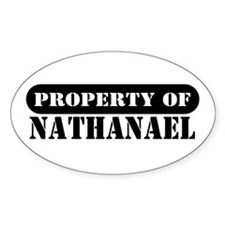 Property of Nathanael Oval Decal