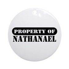 Property of Nathanael Ornament (Round)