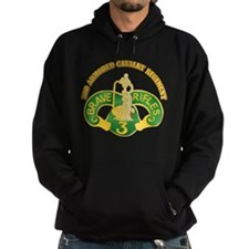 SSI - 3rd Armored Cavalry Rgt w Text Hoodie