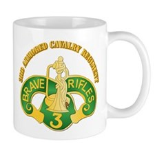 SSI - 3rd Armored Cavalry Rgt w Text Mug