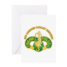 SSI - 3rd Armored Cavalry Rgt w Text Greeting Card