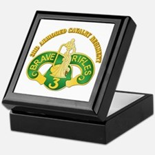 SSI - 3rd Armored Cavalry Rgt w Text Keepsake Box