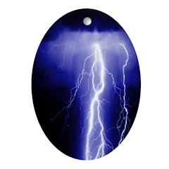 Lightning Oval Ornament