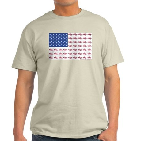 American Flag Made of Snowmobiles T-Shirt