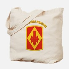 SSI - 75th Fires Brigade with Text Tote Bag