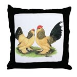 Buff Columbian d'Uccle Throw Pillow