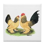 Buff Columbian d'Uccle Tile Coaster