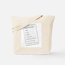 Shopper's List Tote Bag
