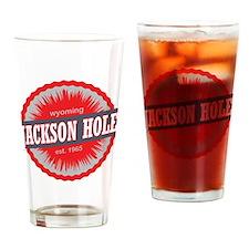Jackson Hole Ski Resort Wyoming Red Drinking Glass