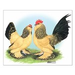 Buff Columbian d'Uccles Small Poster