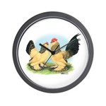 Buff Columbian d'Uccles Wall Clock