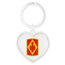 SSI - 75th Fires Brigade Heart Keychain