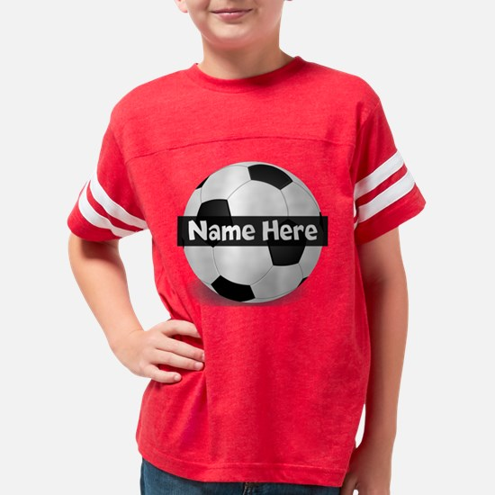 Personalized Soccer Ball Blac Youth Football Shirt