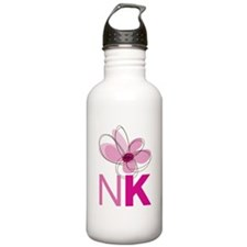 Newtown Kindness Logo White / Pink Water Bottle