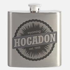 Hogadon Ski Resort Wyoming Black Flask