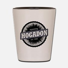 Hogadon Ski Resort Wyoming Black Shot Glass