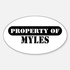 Property of Myles Oval Decal